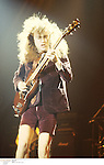 Angus Young of the band AC/DC performing live in the 1980's<br />&copy; Dave Plastik<br />Credit all uses<br />Retna UK