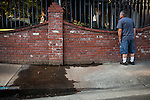 "SACRAMENTO, CA - JULY 3, 2014:  Sacramento City water waste inspector Ron Carpenter tries to find the source of flowing water on one of Sacramento's enforced ""no watering"" days. CREDIT: Max Whittaker for The New York Times"