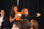 Gloria Steinem applauds the crowd at the NoVo's Foundation's announcement of the new Women's Building in NYC