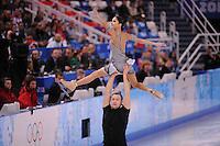 OLYMPICS: SOCHI: Iceberg Skating Palace, 11-02-2014, Figure Skating, Pair Short Program, Vera Bazarova and Yuri Larionov (RUS), ©photo Martin de Jong