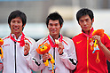 L to R Hiroki Ogita (JPN), Daichi Sawano (JPN), Yang Yansheng (CHN),JULY 8, 2011 - Athletics :The 19th Asian Athletics Championships Hyogo/Kobe, Men's Pole Vault Final at Kobe Sports Park Stadium, Hyogo ,Japan. (Photo by Jun Tsukida/AFLO SPORT) [0003]