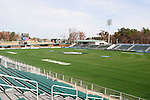 08 December 2005: The field is readied at SAS Stadium in Cary, North Carolina in preparation for the NCAA Men's Division I College Cup semifinals to be played the following day.