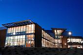 Gerstacker Biomedical Engineering Building at night. 11/9/06