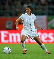 Shannon Boxx of team USA during the FIFA Women's World Cup at the FIFA Stadium in Wolfsburg, Germany on July 6thd, 2011.