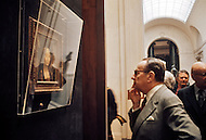 Washington, D.C. - February 15, 1972. André Malraux looks at the Ginevra de' Benci by Leonardo da Vinci at the National Gallery of Art during his trip to the United States. He (November 3, 1901 - November 23, 1976) was a French art theorist, novelist, he wrote the 1933 Prix Goncourt winning novel La Condition Humaine, and was the Minister for Cultural Affairs during Charles de Gaulle's presidency from 1959 - 1969.
