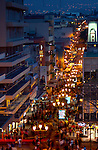 Costa Rica, San Jose, Pedestrian Walkway, Central Avenue, Dusk