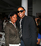 Stylist Misa Hylton and Publicist BJ Coleman attend The Unveiling of Korto Momolu's 2011 Spring Collection held at Skylight Studios, NY 9/12/10