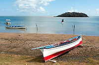Mauritius. Pirogue fishing boats on the island of Rodrigues.