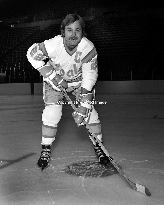 California Golden Seals Joey Johnston, (1974 photo/Ron Riesterer)