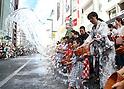 Water splashing event in Tokyo's Ginza district