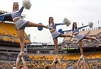 North Carolina cheerleaders. The North Carolina Tar Heels defeated the Pitt Panthers 34-27 at Heinz Field, Pittsburgh Pennsylvania on November 16, 2013.