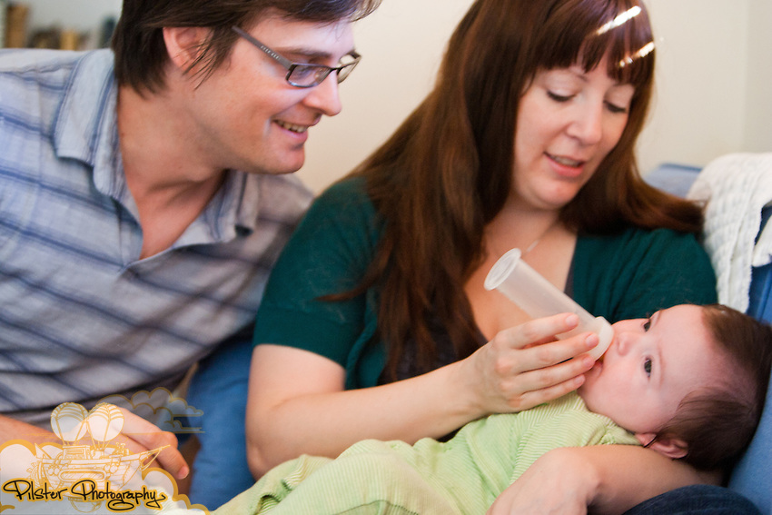 Joshua, Kim and Quinn Rust, 4 mos,  on Wednesday, July 7, 2011, at their home in DeLand, Florida. (Chad Pilster for Pilster Photography http://www.PilsterPhotography.net)