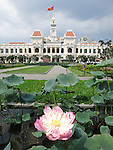 Lotus Flower outside Peoples Committee Building, Ho Chi Minh City; Vietnam