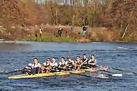 160 .UTC-Wootton .IM1.8+ .Upper Thames RC. Wallingford Head of the River. Sunday 27 November 2011. 4250 metres upstream on the Thames from Moulsford railway bridge to Oxford University's Fleming Boathouse in Wallingford. Event run by Wallingford Rowing Club.