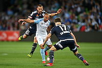 Melbourne, 17 December 2016 - EMMANUEL MUSCAT (2) of Melbourne City controls the ball in the round 11 match of the A-League between Melbourne City and Melbourne Victory at AAMI Park, Melbourne, Australia. Victory won 2-1 (Photo Sydney Low / sydlow.com)