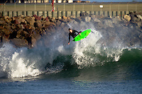 Matt Stockman doing what he does best...A small ground swell kicks in - Wellington, New Zealand 15th March 2010