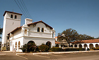 """Julia Morgan: Las Milpitas, early 1900's. A """"Hunting Lodge"""" for Hearst, modeled on nearby San Antonio Mission. Photo '76."""
