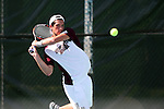 09 May 2015: Julian Cash (ENG). The University of North Carolina Tar Heels hosted the Mississippi State University Bulldogs at Cone-Kenfield Tennis Center in Chapel Hill, North Carolina in a 2015 NCAA Division I Men's Tennis Tournament Second Round match. UNC won the match 4-1.