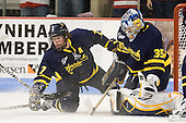 Karl Stollery (Merrimack - 7), Joe Cannata (Merrimack - 35) - The visiting Merrimack College Warriors tied the Boston University Terriers 1-1 on Friday, November 12, 2010, at Agganis Arena in Boston, Massachusetts.