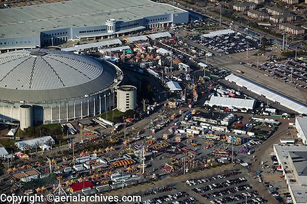 aerial photograph of the Houston Rodeo, Reliant Stadium, Houston, Texas