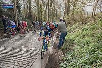 Yoann Offredo (FRA/Wanty Groupe-Gobert) on the Taaienberg<br /> <br /> 72nd Dwars Door Vlaanderen (1.UWT)<br /> 1day race: Roeselare &rsaquo; Waregem BEL (203.4km)