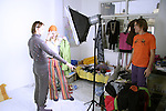 Fashion shoot in photo studio