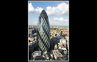 The Gherkin (Completed 2003) - 30 St Mary Axe - London - 26th September 2006