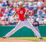 11 March 2013: Washington Nationals pitcher Henry Rodriguez on the mound during a Spring Training game against the Atlanta Braves at Space Coast Stadium in Viera, Florida. The Braves defeated the Nationals 7-2 in Grapefruit League play. Mandatory Credit: Ed Wolfstein Photo *** RAW (NEF) Image File Available ***