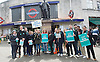 Junior Doctors Strike <br /> picket at St George's Hospital, Tooting, London, Great Britain <br /> 26th April 2016 <br /> <br /> Outside Tooting Broadway tube station <br /> <br /> <br /> Photograph by Elliott Franks <br /> Image licensed to Elliott Franks Photography Services