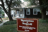 1985 July ..Conservation.Park Place..RENOVATIONS IN PROGRESS SIGN...NEG#.NRHA#..
