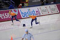 SCHAATSEN: CALGARY: Olympic Oval, 08-11-2013, Essent ISU World Cup, 1500m, Kjeld Nuis (NED), Koen Verweij (NED), ©foto Martin de Jong