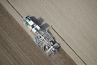 Moderne Landwirtschaft: EUROPA, DEUTSCHLAND, SCHLESWIG- HOLSTEIN, SIEK, (GERMANY), 02.09.2011: Traktor auf Feld zur Aussaat, - Aufwind-Luftbilder- Stichworte: Moderne Landwirtschaft