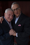 Head and shoulder portrait of Richard and Stan, after at their wedding celebration outside restaurant in Greenwich Village NYC.