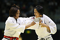 (L to R) .Kaoru Matsumoto, .Megumi Ishikawa, .NOVEMBER 13, 2011 - Judo : .Kodokan Cup 2011 .Women's -57kg .at Chiba Port Arena, Chiba, Japan. .(Photo by YUTAKA/AFLO SPORT) [1040]