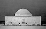 Pittsburgh PA:  View of a rendering created by J.A. Mitchell of the new Buhl Planetarium.  This view is one of the Planetarium's front entrance designs under consideration.  This was the view selected with a change to the design above the door. The project was completed in 1939.  The Buhl Planetarium was built with monies from the Buhl Foundation; a foundation created by the wealthy North Side clothier Henry Buhl of Boggs and Buhl department store fame.  Brady Stewart was selected for the job due to his specialized equipment; an 8x10 Dierdorff camera, and his expertise in lighting and photographing large renderings and drawings.