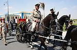 A horse drawn carriage carry the flag draped coffin of Hisham Barakat, the top judicial official in charge of overseeing the prosecution of thousands of Islamists, including former President Mohammed Morsi, at his funeral in Cairo, Egypt, Tuesday, June 30, 2015. The Egyptian president promised to speed up proceedings against extremists by amending laws and freeing up the judiciary, a day after the country s top prosecutor was killed in a car bombing. Photo by Egyptian Presidency / apaimages