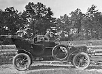 Westmoreland County PA:  Brady Stewart and friends stopped along the road to pose for a photograph in the new 1906 Buick Model