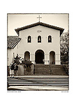 Bells and fa&ccedil;ade, San Luis Obispo de Tolosa by Larry Angier.<br /> <br /> Father Jun&iacute;pero Serra's 5th mission founded September 1, 1772.
