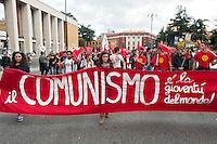 """Roma, 27 Ottobre 2012: .No Monti Day, manifestazione nazionale contro le politiche del  governo Monti...""""No Monti Day"""" protest in Rome against the austerity cuts of the Italian government.."""