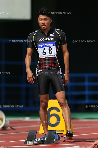 Shingo Suetsugu, <br /> SEPTEMBER 22, 2013 - Athletics : <br /> The 61st All Japan Industrial Athletics Championship <br /> Men's 100m <br /> at Kumagaya Sports Culture Park Athletics Stadium, Saitama, Japan. <br /> (Photo by YUTAKA/AFLO SPORT) [1040]