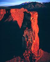 Castle Rock, Proposed La Sal Waters Wilderness, Utah    BLM lands near Moab, Utah   Also called Castleton Tower.    Castle Valley, La Sal Mountains