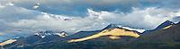 Panorimic of Humbolt mountains at the north end of Lake Wakatipu, New Zealand