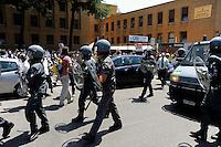 Roma 7 Luglio 2009.Corteo degli studenti universitari per protestare contro il G8.Demonstration of the university students to protest against the G8.