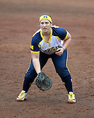 Michigan Wolverines infielder Caitlin Blanchard (44) during the season opener against the Florida Gators on February 8, 2014 at the USF Softball Stadium in Tampa, Florida.  Florida defeated Michigan 9-4 in extra innings.  (Copyright Mike Janes Photography)