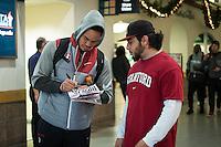 El Paso, TX - December 26, 2016: The Stanford Cardinal prepares for the Sun Bowl in El Paso, Texas