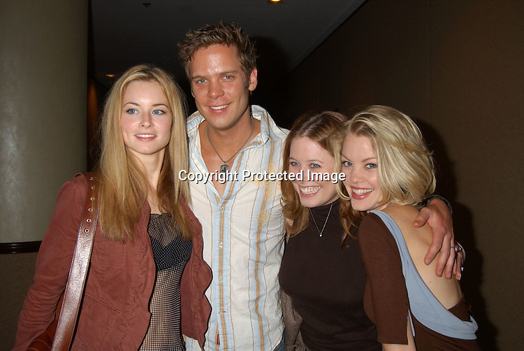 Jessica Morris, Bruce Michael Hall, Melissa Archer and Bree Williamson                                     ..at the Ninth Annual Daytime Television Salutes St. Judes Children's Research Hospital benefit in New York City on ..October 10, 2003 at the Marriott Marquis Hotel.