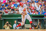 15 June 2016: Washington Nationals first baseman Ryan Zimmerman in action against the Chicago Cubs at Nationals Park in Washington, DC. The Nationals defeated the Cubs 5-4 in 12 innings to take the rubber match of their 3-game series. Mandatory Credit: Ed Wolfstein Photo *** RAW (NEF) Image File Available ***