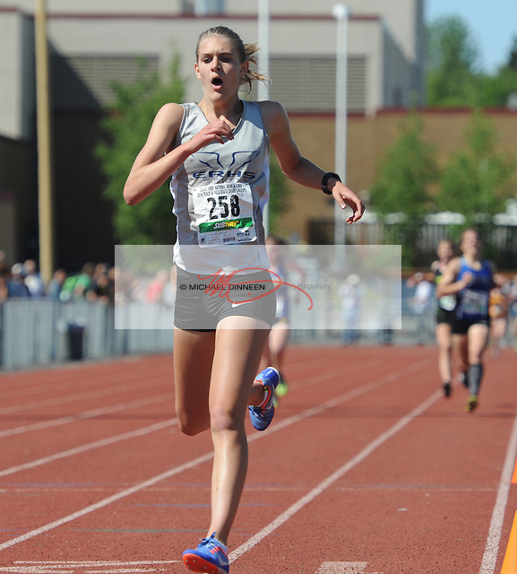 Eagle River's Peyton Manning wins the 3200-meter run at the state Track and Field championships Friday, May 27, 2016.