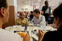 Il sindaco Ignazio Marino visita la mensa  Giovanni Paolo II