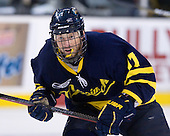 Elliott Sheen (Merrimack - 11) - The Merrimack College Warriors defeated the University of New Hampshire Wildcats 4-1 (EN) in their Hockey East Semi-Final on Friday, March 18, 2011, at TD Garden in Boston, Massachusetts.